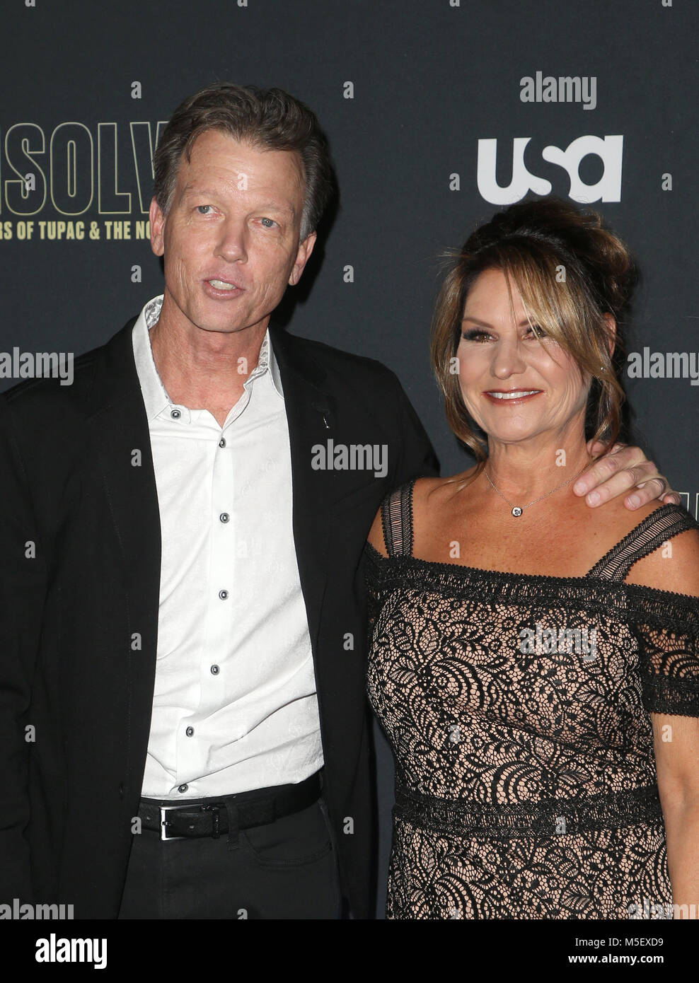 HOLLYWOOD, CA - FEBRUARY 22: Greg Kading, Guest, at Premiere