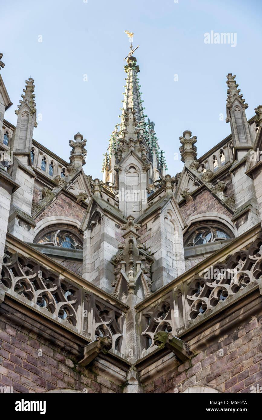 Sint-Petrus-en-Pauusplein (Church of Saint Peter and Saint Paul), Ostend Belgium Stock Photo