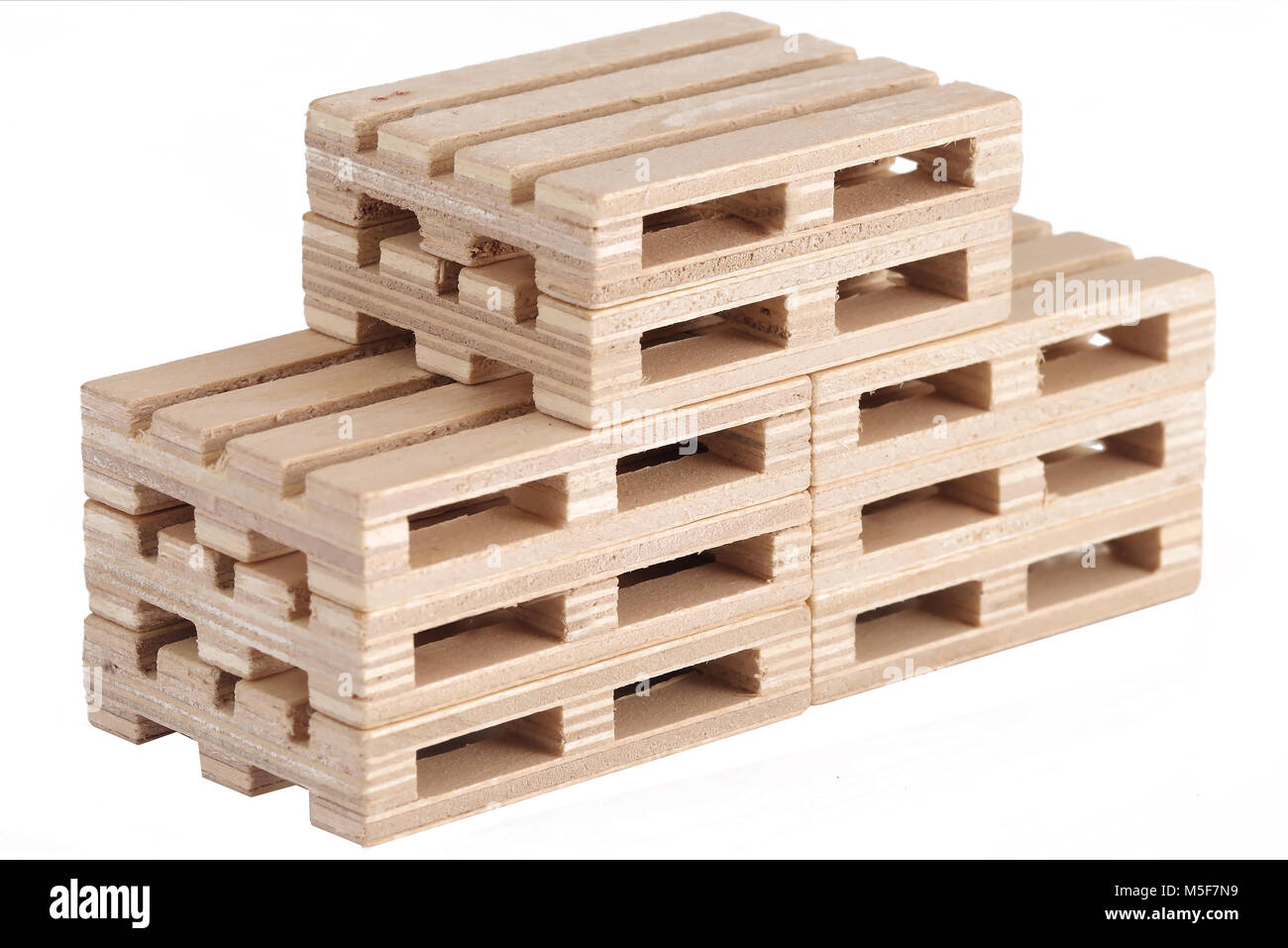 Wooden pallets on white background Stock Photo: 175512325