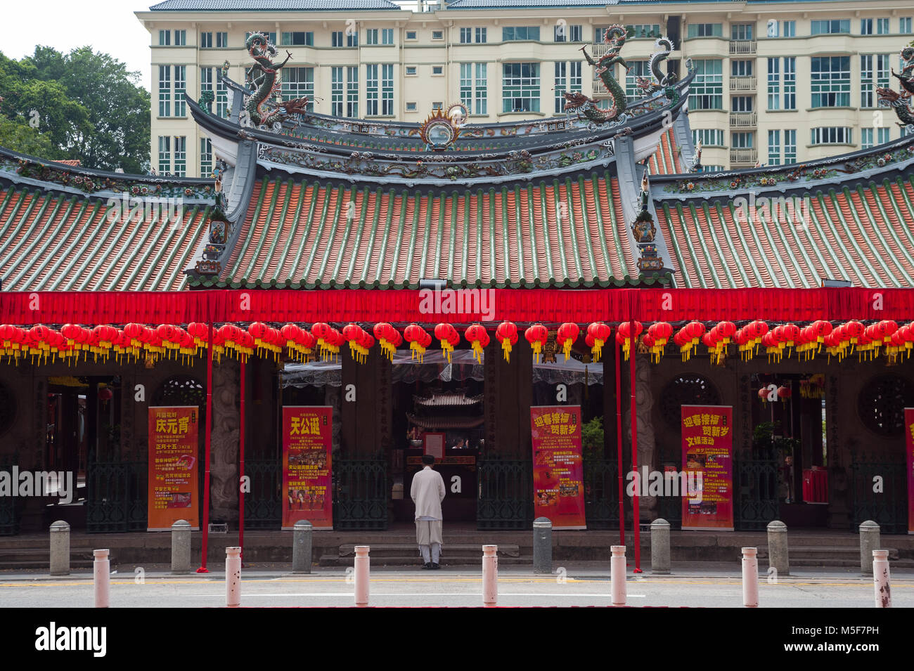 10.02.2018, Singapore, Republic of Singapore, Asia - The Thian Hock Keng Temple in Singapore's Chinatown district. - Stock Image