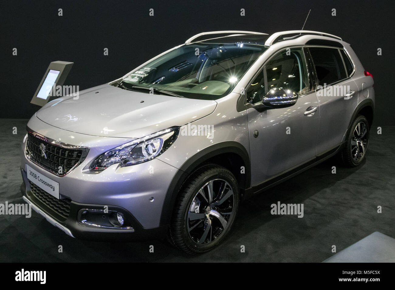 brussels jan 10 2018 peugeot 2008 crossway compact suv car shown stock photo 175515814 alamy. Black Bedroom Furniture Sets. Home Design Ideas