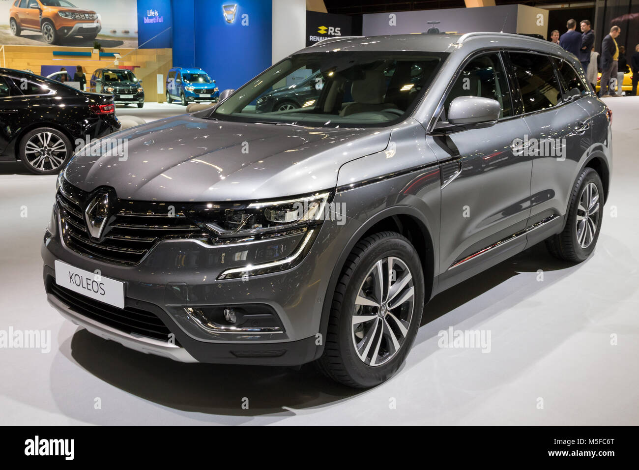 brussels jan 10 2018 renault koleos suv car shown at the brussels stock photo 175515840 alamy. Black Bedroom Furniture Sets. Home Design Ideas