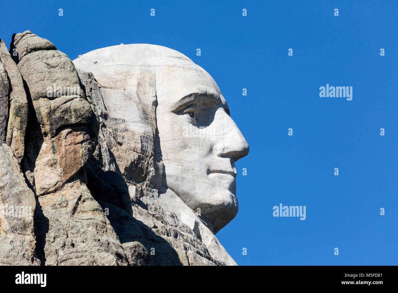 SD00013-00...SOUTH DAKOTA - Presedent George Washington carved into a mountain side at Mount Rushmore National Memorial. - Stock Image