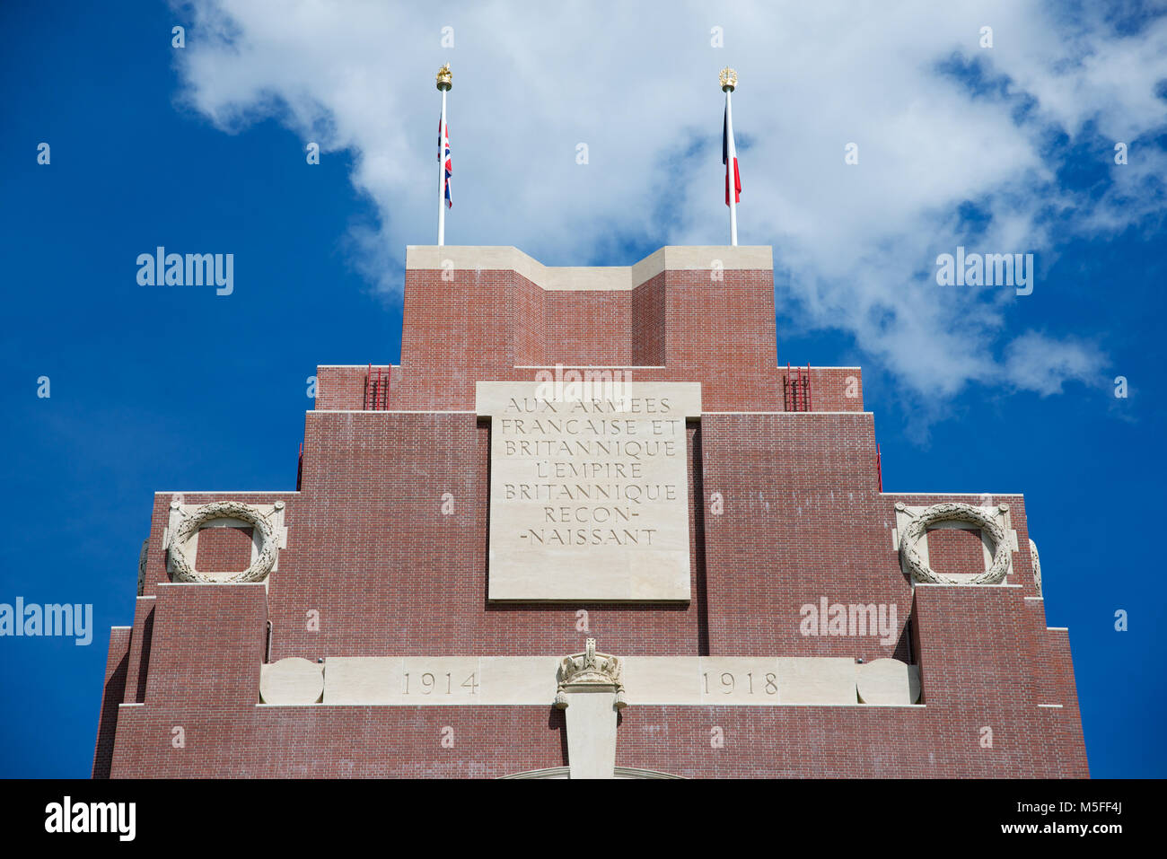The Thiepval Memorial commemorating the 72,246 missing British and South African servicemen who died in the Battles - Stock Image