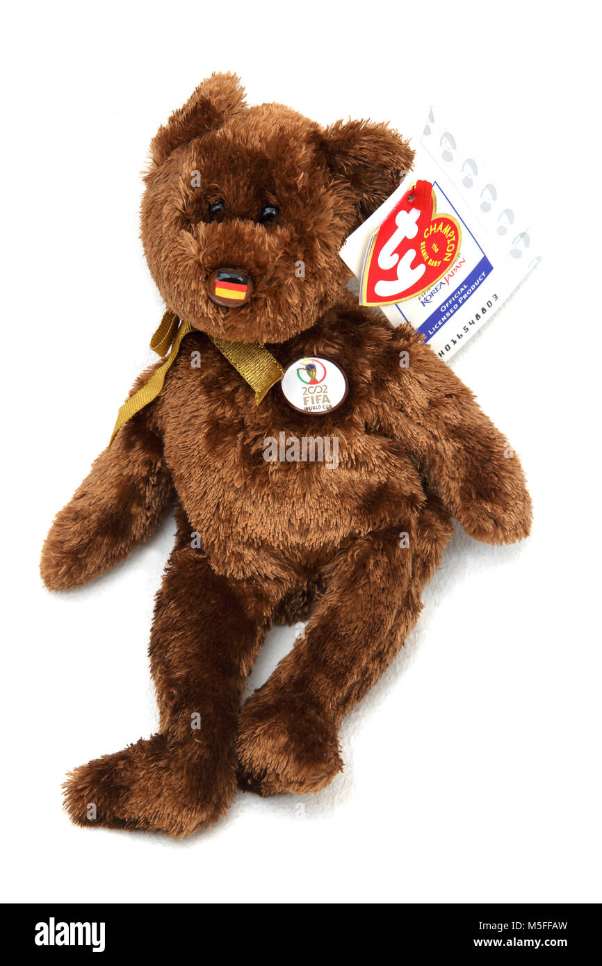 6ef78f6d9e3 TY Champion the Beanie Baby 2002 FIFA World Cup Bear With German Flag On  Nose -