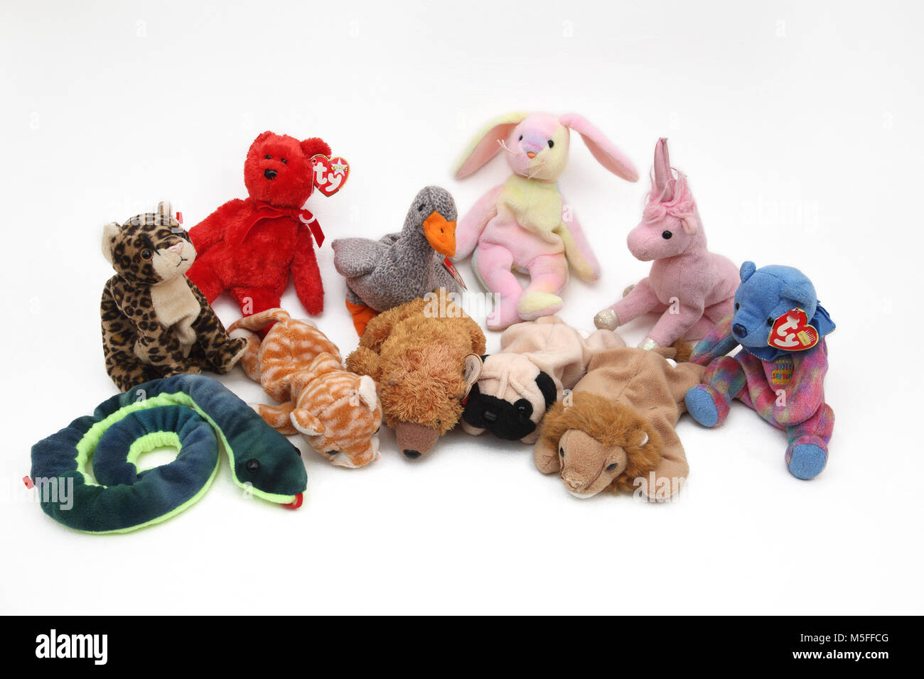 Collection of TY Beanie Babies - Stock Image