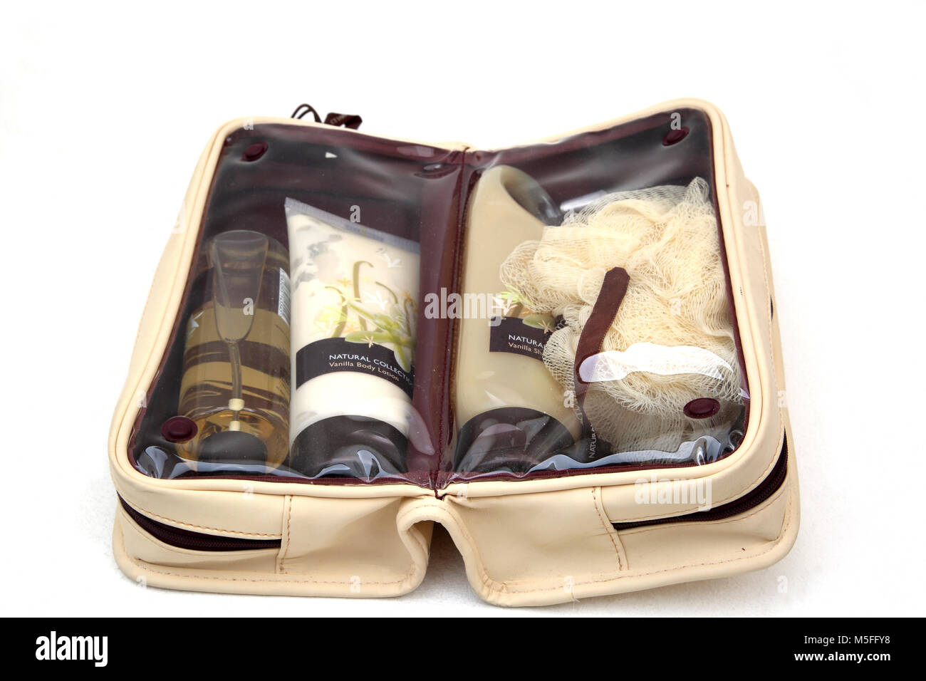 Boots Vanilla Natural Collection Toiletries - Stock Image
