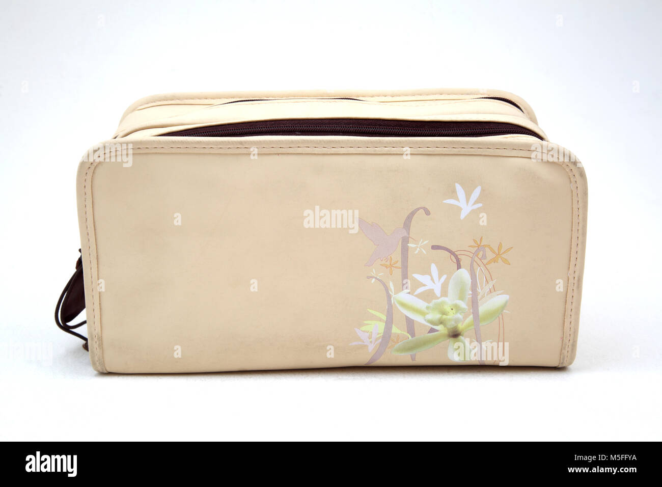 Boots Vanilla Natural Collection Toiletries Toiletry Bag - Stock Image