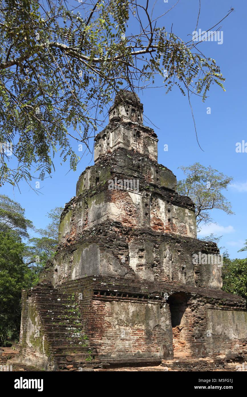Polonnaruwa Quadrangle North Central Province Sri Lanka the Satmahal Prasada - Stock Image