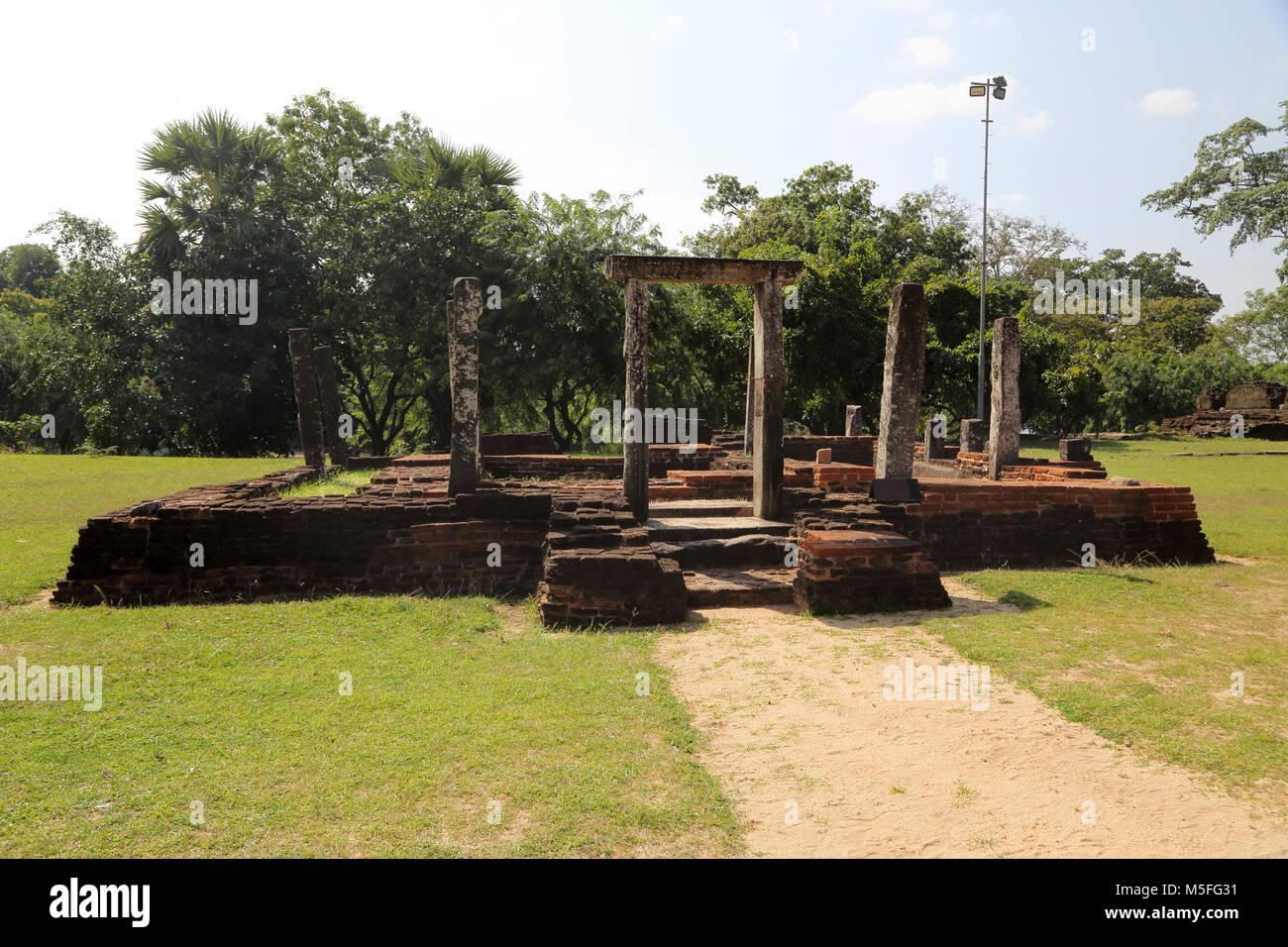 Polonnaruwa Quadrangle North Central Province Sri Lanka Bo Tree Enclosure - Stock Image