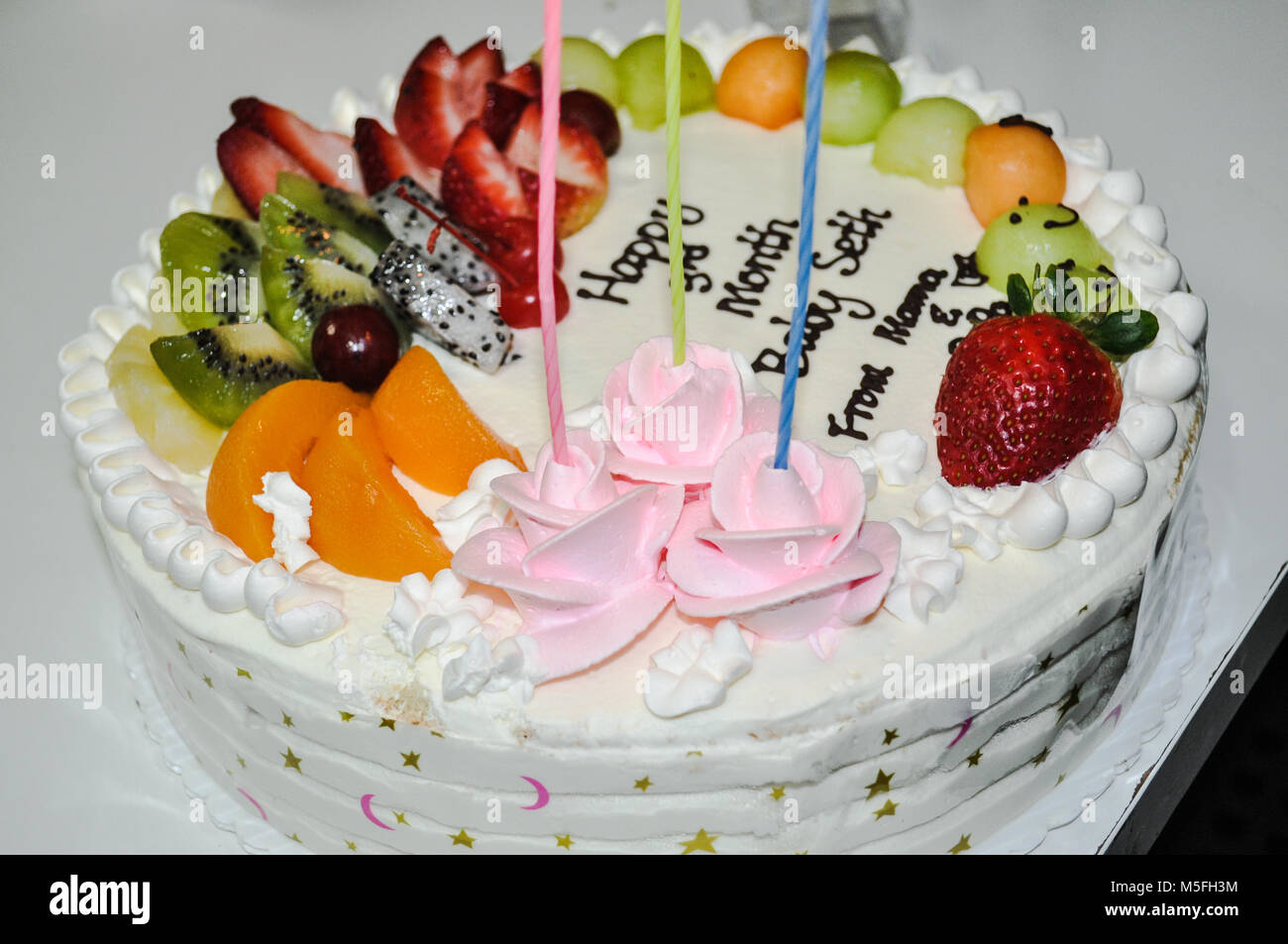 February 20 2018 Fruitcake At Birthday Celebration In Vancouver BC Canada