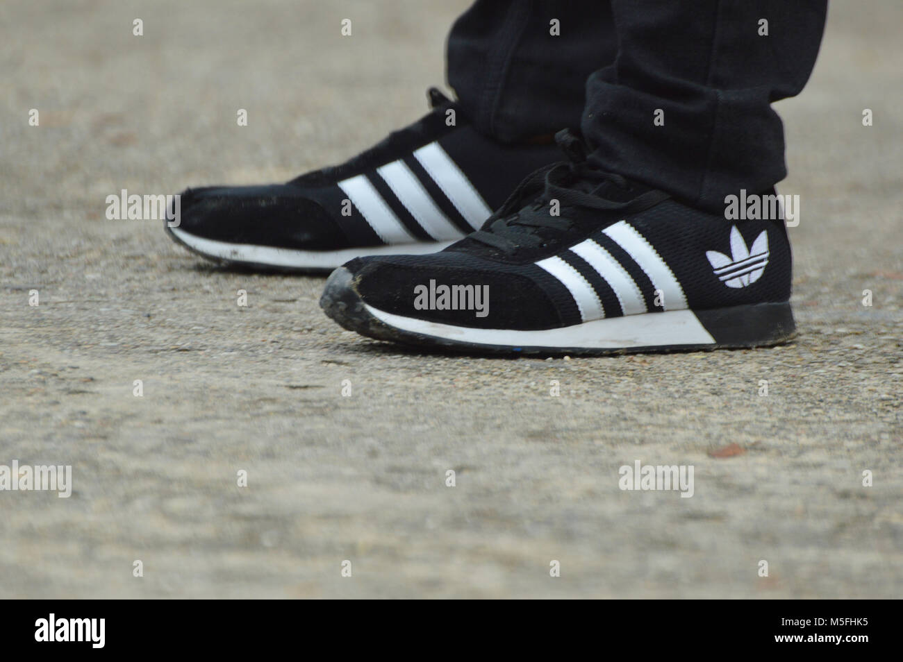 Adidas Black And White Shoes Stock Photos & Adidas Black And