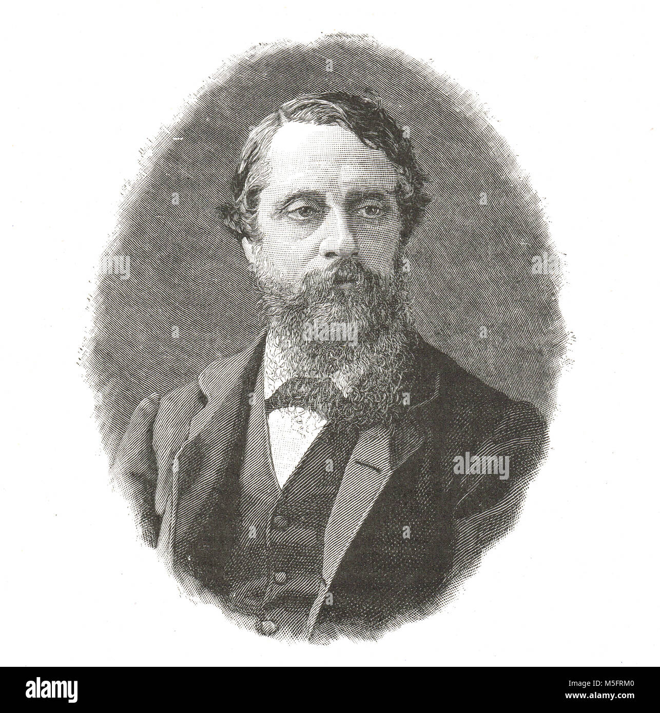 Lord Frederick Charles Cavendish (1836-1882), killed in Phoenix Park Murders by rebel group Irish National Invincibles - Stock Image
