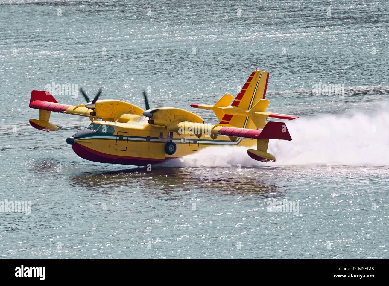 bombardier 415 while its water, canadair - Stock Image