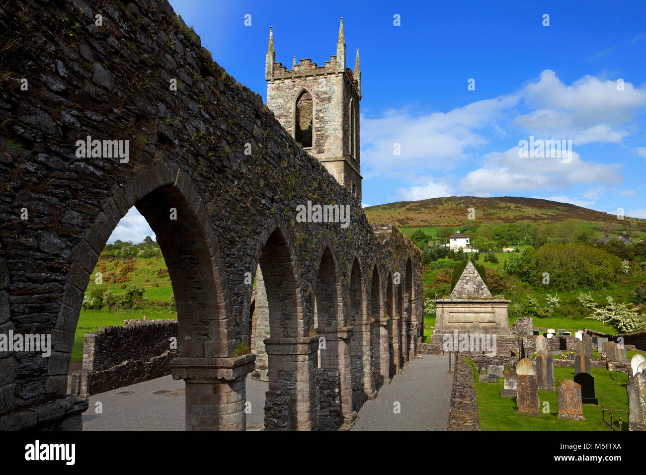 Baltinglass Abbey, Founded as a Cistercian Abbey in 1148, Baltinglass, County Wicklow, Ireland Stock Photo