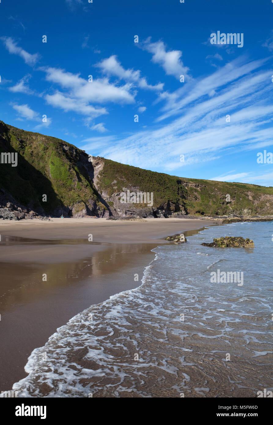 The Beach at Cill an Fhuarthainn, An Rinn or Ring Gaeltacht Region, County Waterford, Ireland - Stock Image
