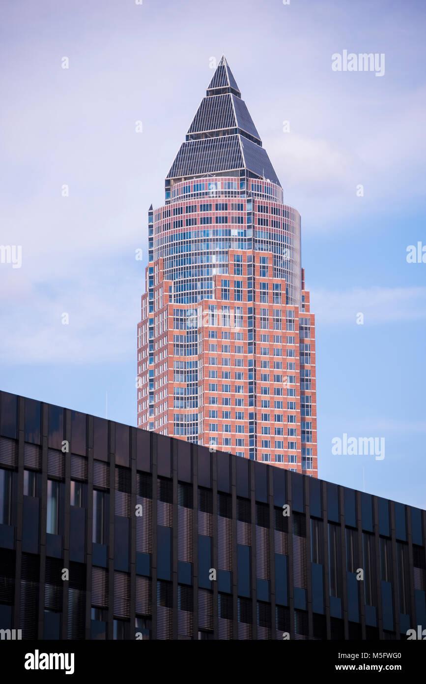 Messeturm, Frankfurt, Hessen, Deutschland, Europa Stock Photo