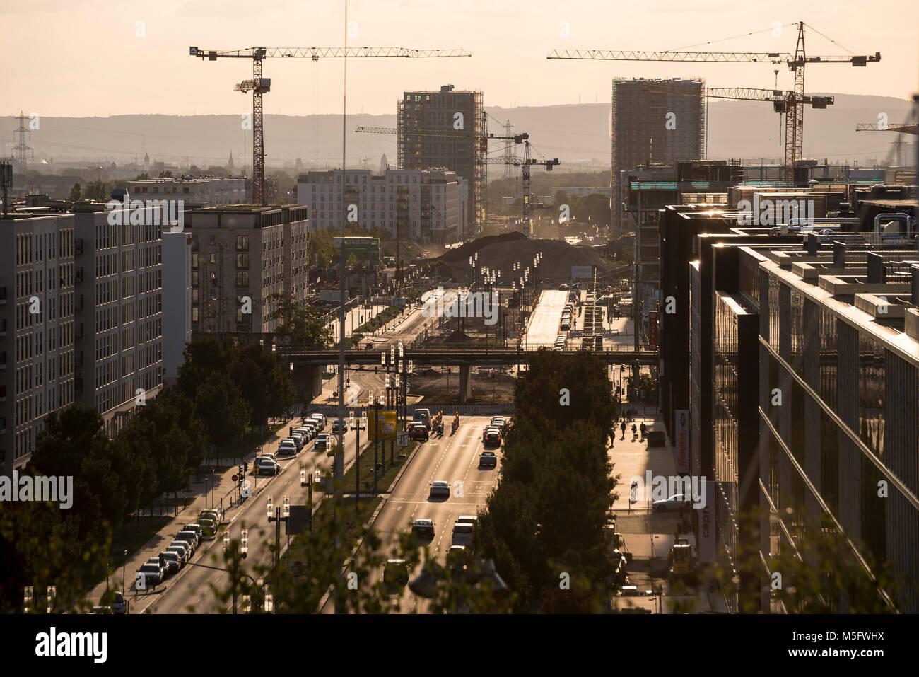 Europaallee, Frankfurt, Hessen, Deutschland, Europa - Stock Image