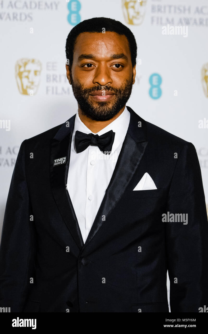 31bcf7d5e3b1 Chiwetel Ejiofor backstage at the EE BRITISH ACADEMY FILM AWARDS IN 2018 on  Sunday February 18