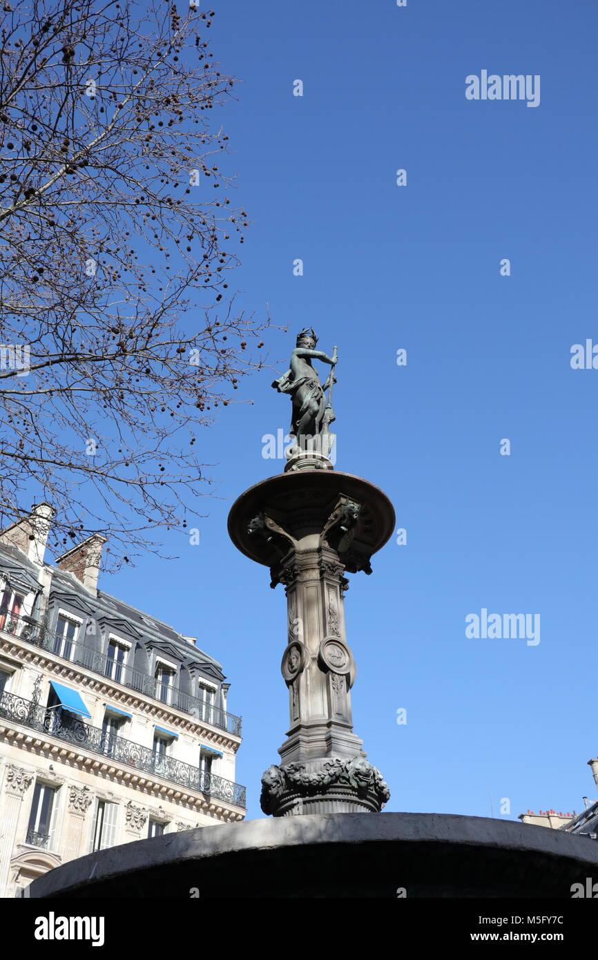Fontaine Du Théâtre Français, Paris - Stock Image