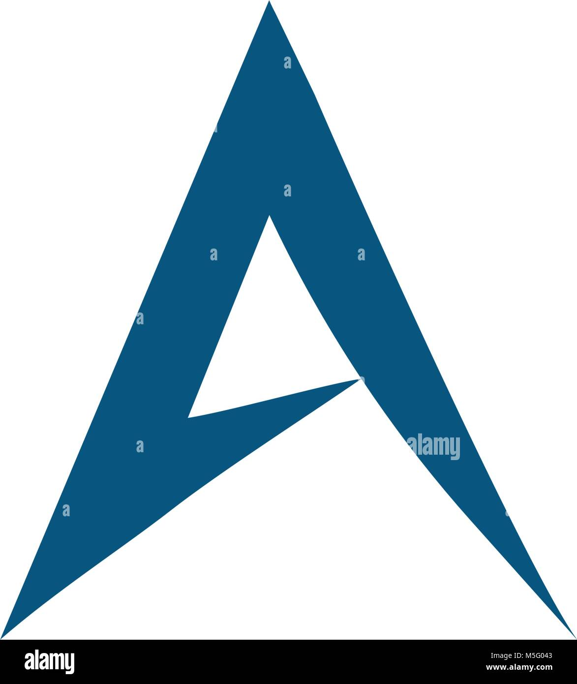 Abstract letter A logo vector font  Futuristic outline