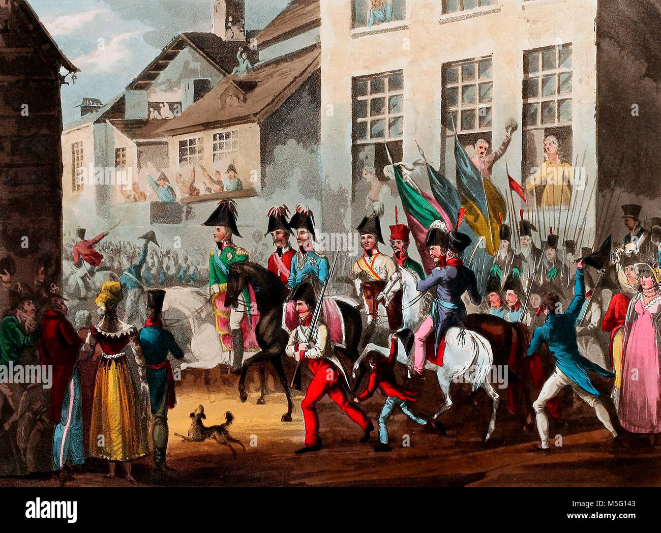 Entrance of the Allies into Paris - March 31, 1814 - Stock Image