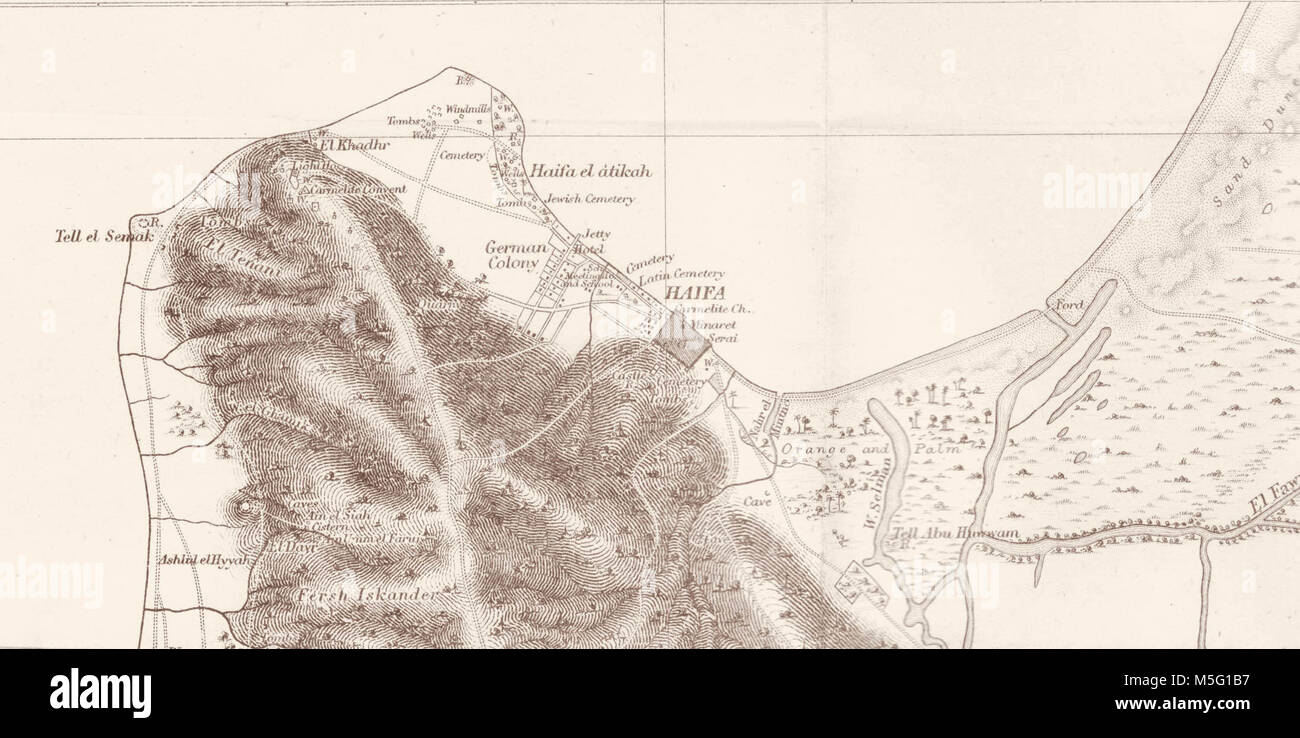 Vintage Map Of Haifa Stock Photos Vintage Map Of Haifa Stock