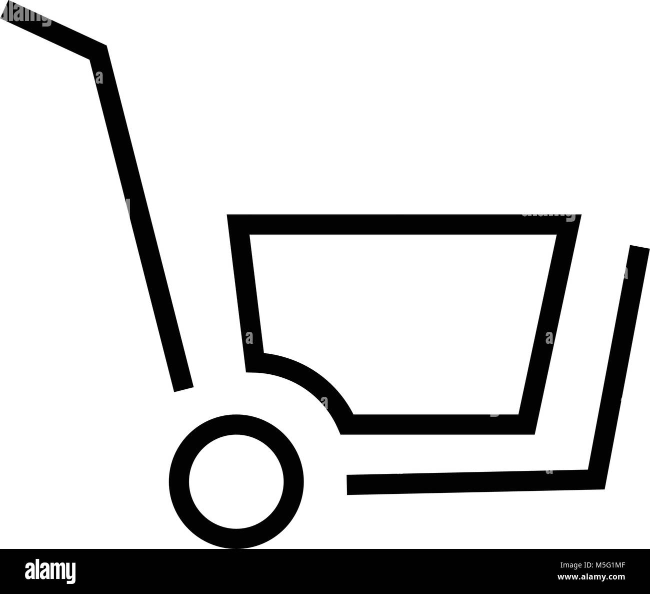 Shopping icon line outline style isolated on white background for your web and mobile app design, vector illustration - Stock Image