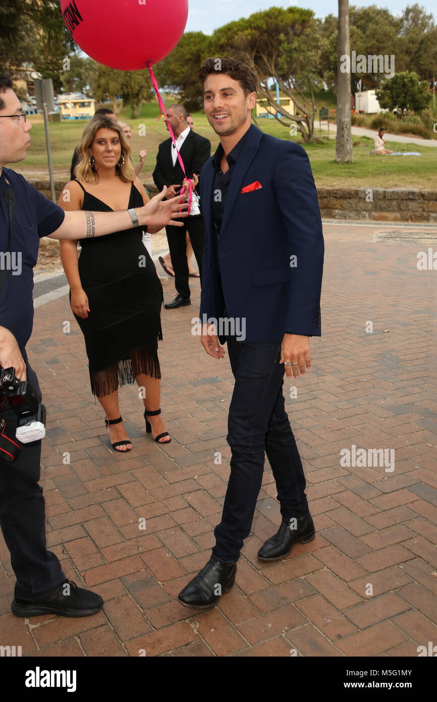 Sydney, Australia. 22nd February 2018.  Matty J attends the Cosmopolitan + Tinder annual Bachelor of the Year Award - Stock Image