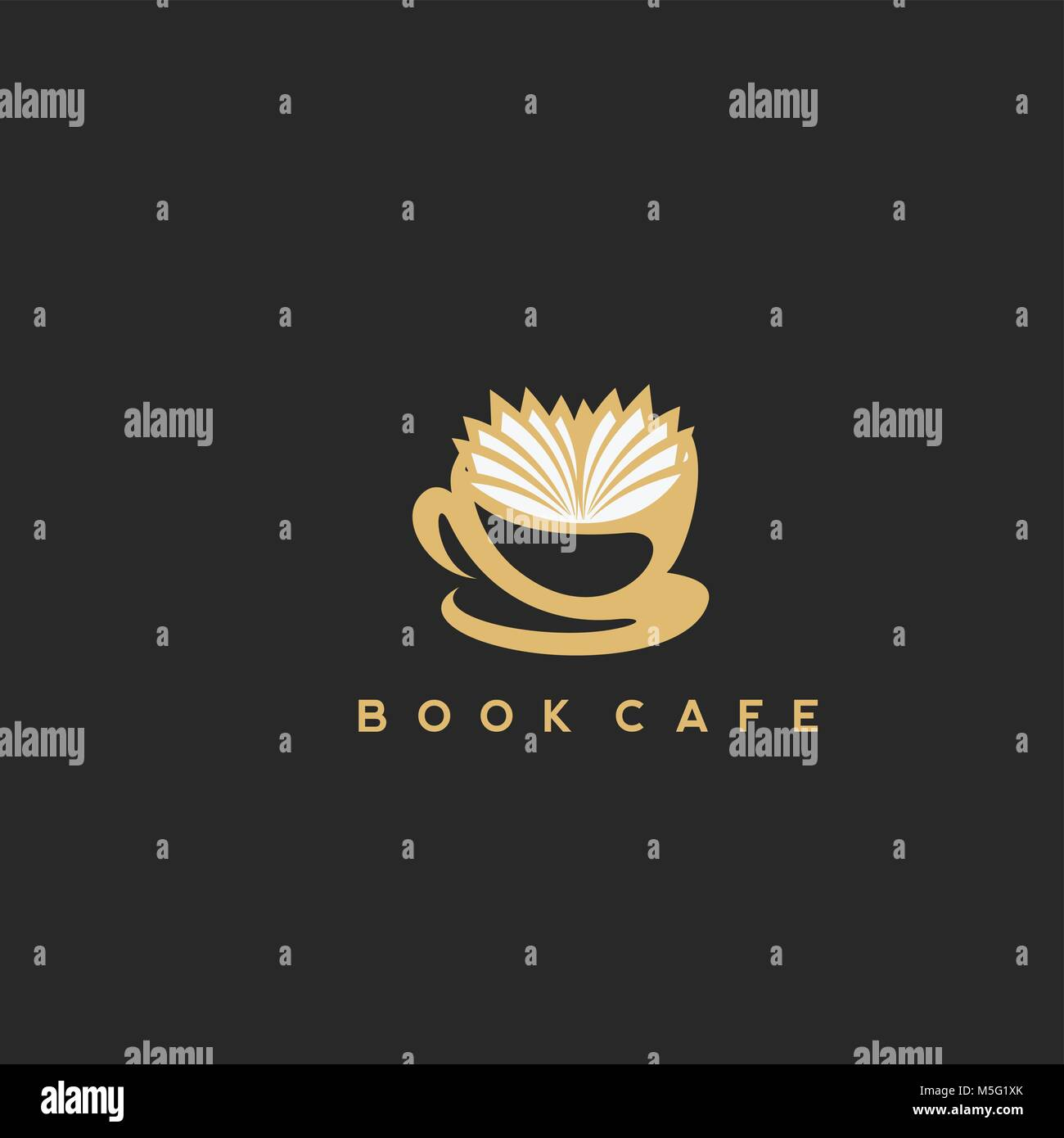 illustration of a coffee cup with a book - Stock Vector