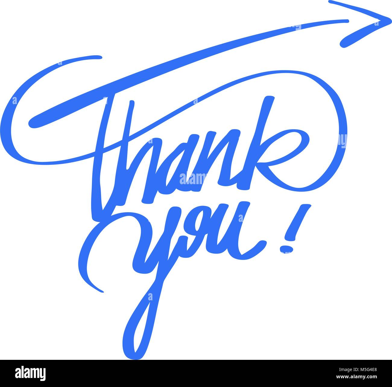 Thank You Quote Hand Lettering Vector Artwork Concept Ready For