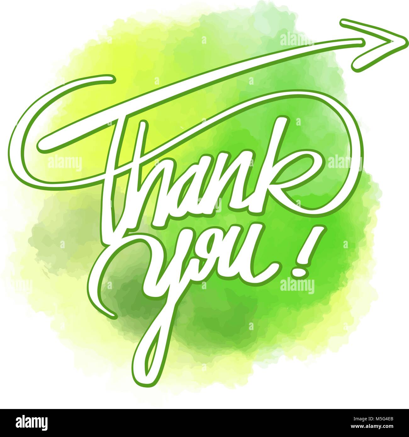 Thank You Word Hand Lettering Vector Artwork Concept Ready For