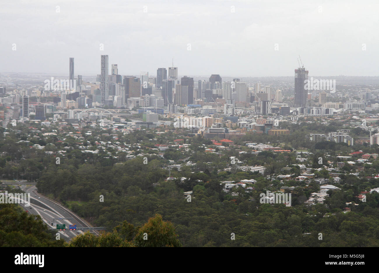 Brisbane Cityscape, Queensland, Australia - Stock Image