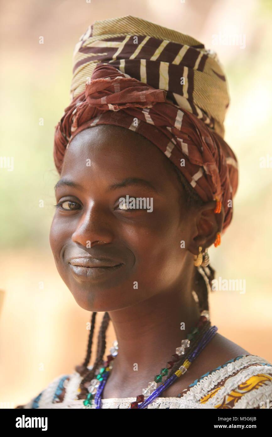 Girl in Africa - Stock Image