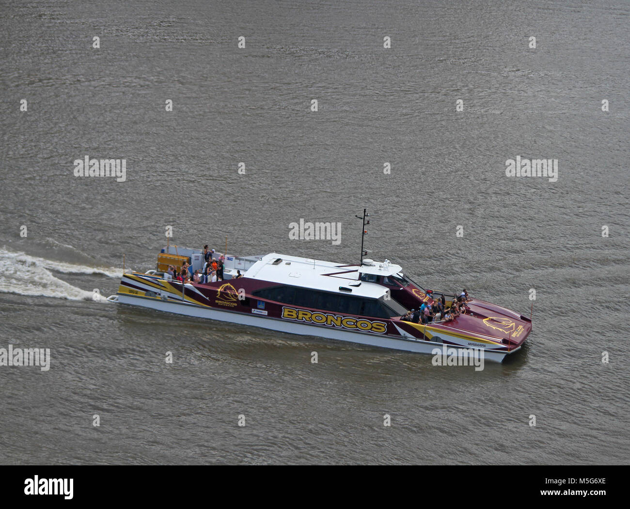 River taxi, Brisbane River, Brisbane, Australia - Stock Image