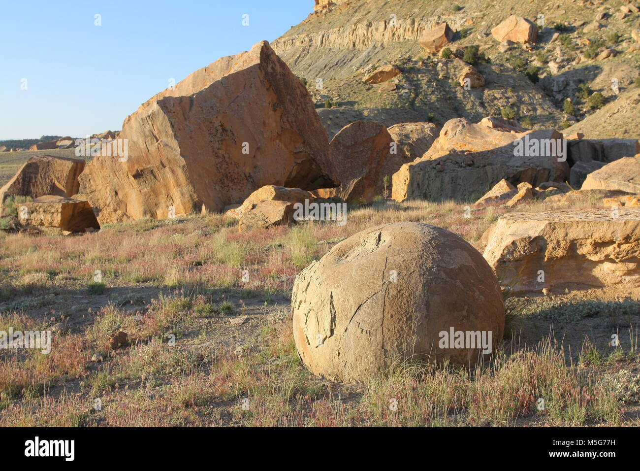 Concretions in Emery County Utah - Stock Image