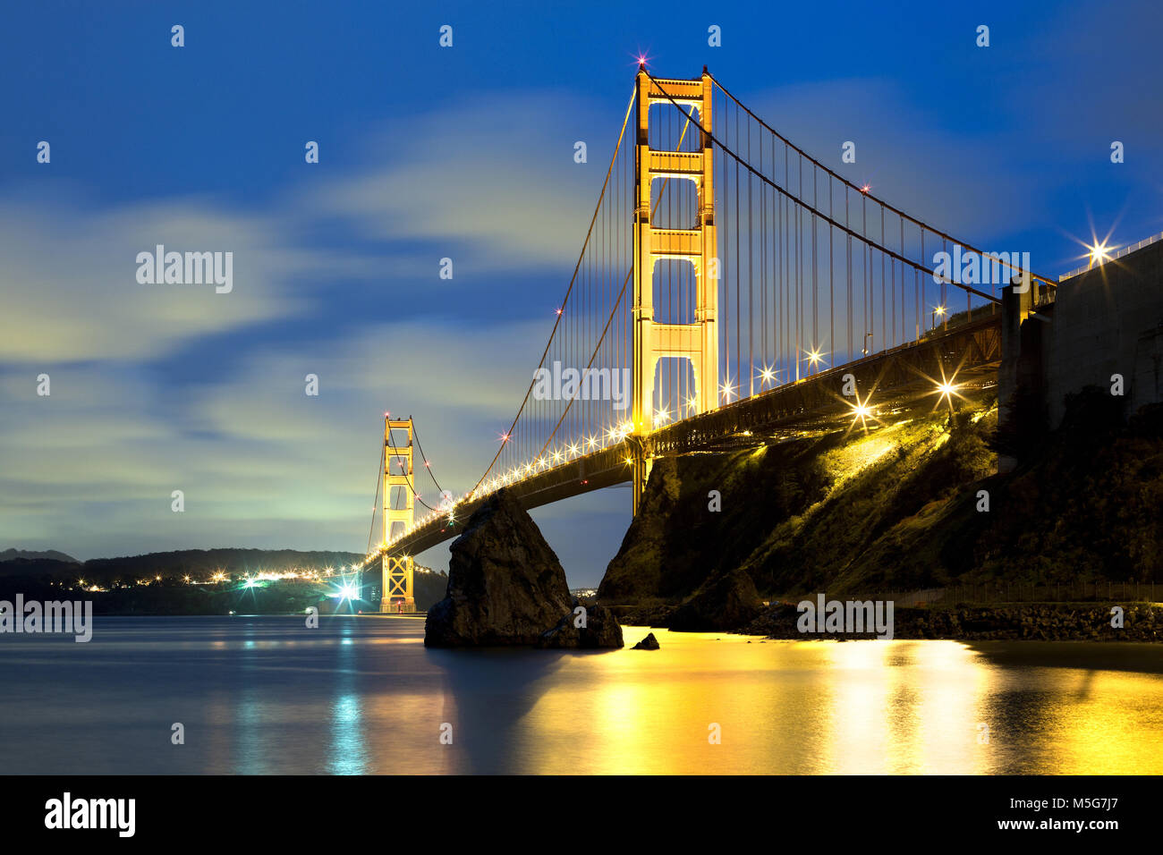 The Golden Gate Bridge in San Francisco, California, USA - Stock Image