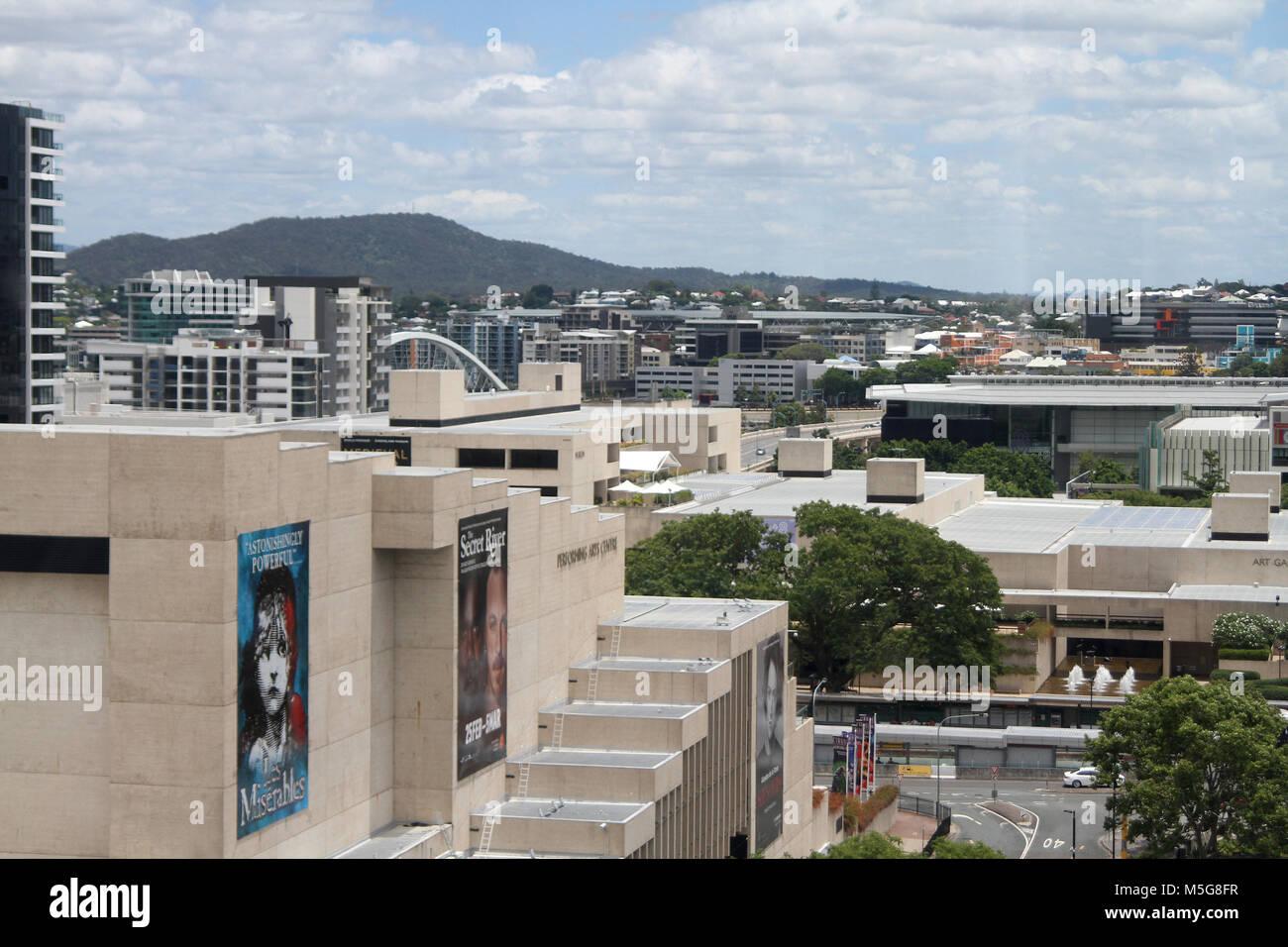 Cityscape of Brisbane from the Wheel of Brisbane, Australia - Stock Image
