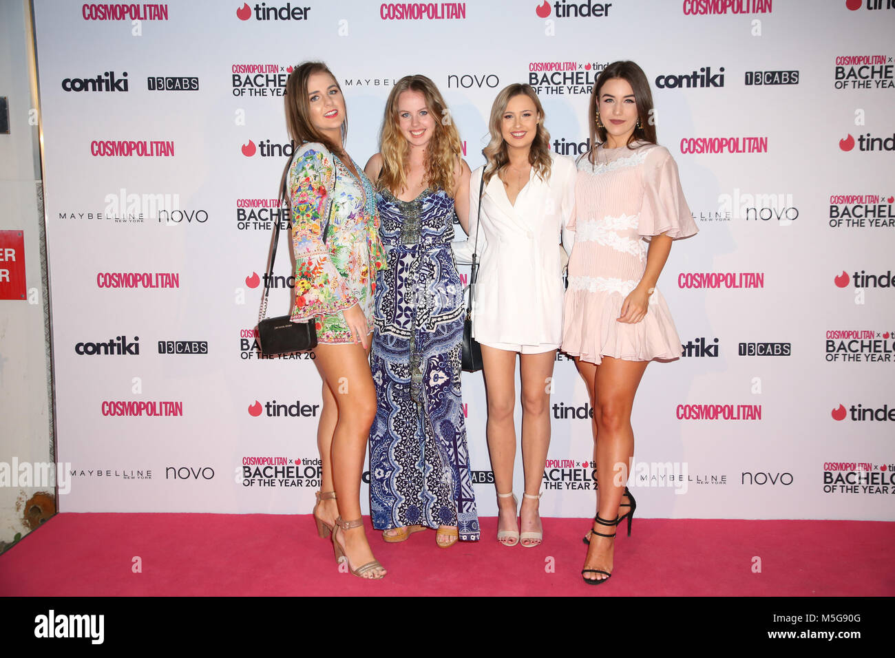 Sydney, Australia. 22nd February 2018.  Tbc attends the Cosmopolitan + Tinder annual Bachelor of the Year Award - Stock Image