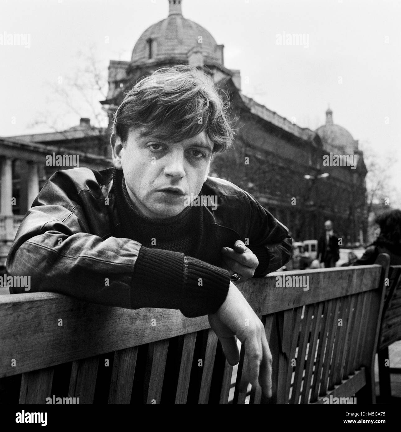 Mark Edward Smith, 5 March 1957 – 24 January 2018, MES, Mark E Smith,  English singer and songwriter. He was best - Stock Image