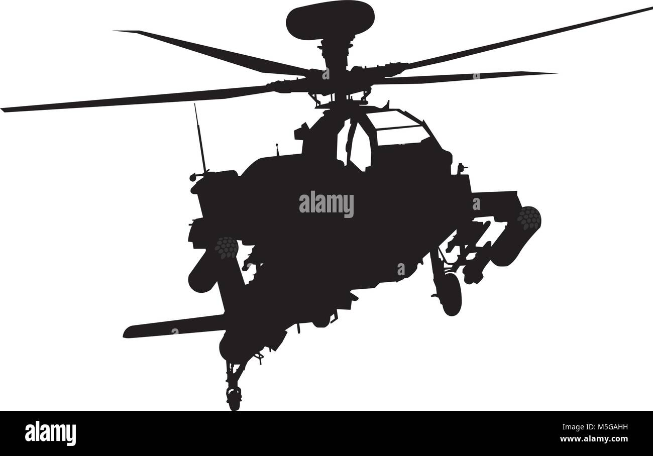 Helicopter illustration - Stock Vector