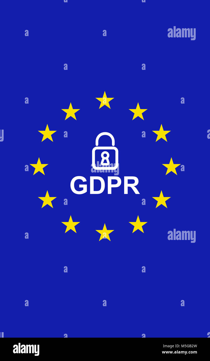 Europe locked GDPR - Stock Image