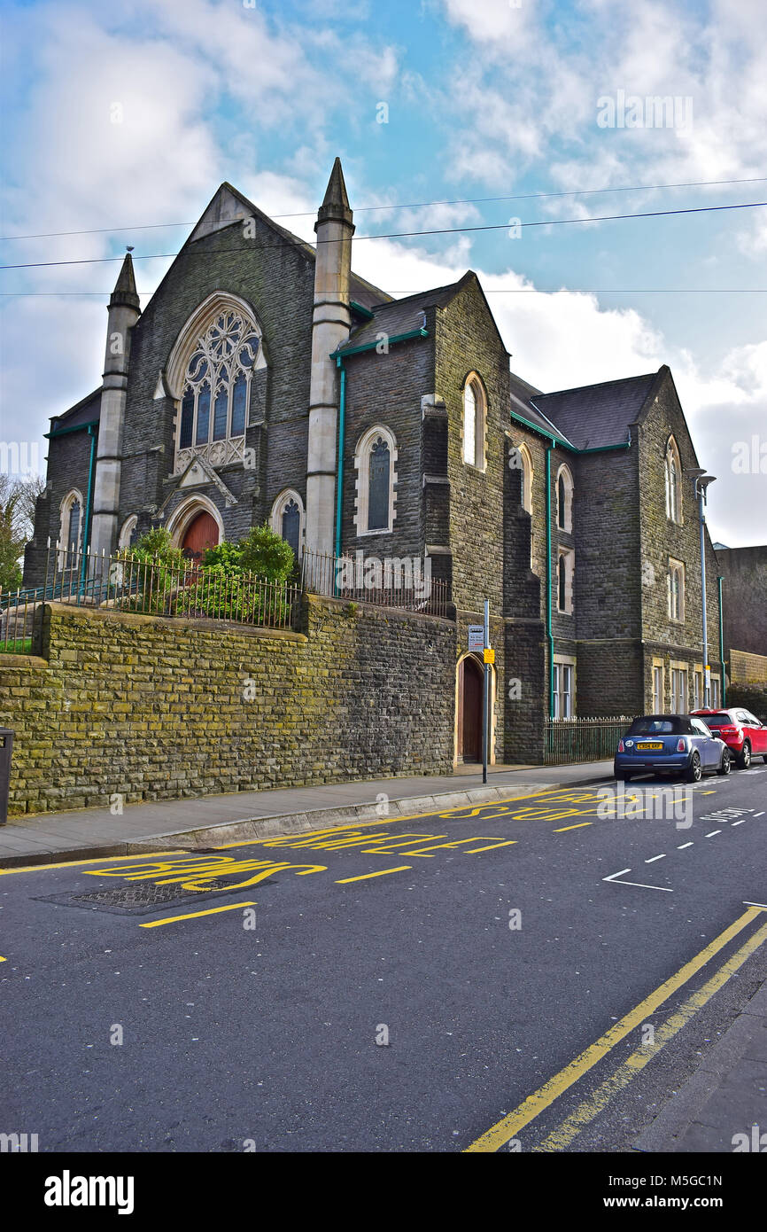 Hope Baptist Chapel ,Vestry and Schoolroom. Bridgend,S.Wales.  A well-supported church providing care and support - Stock Image
