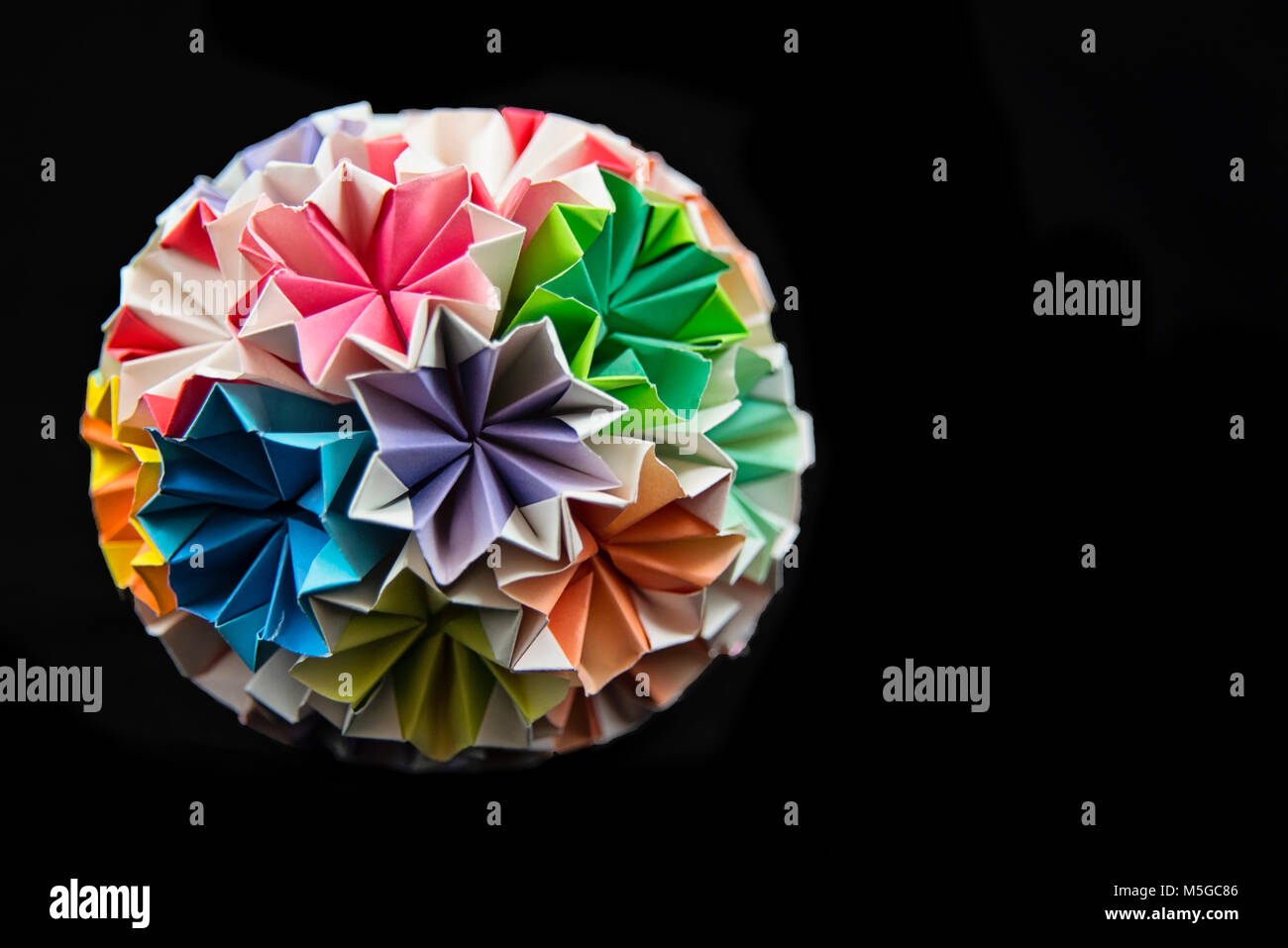 Origami Ball Close Up