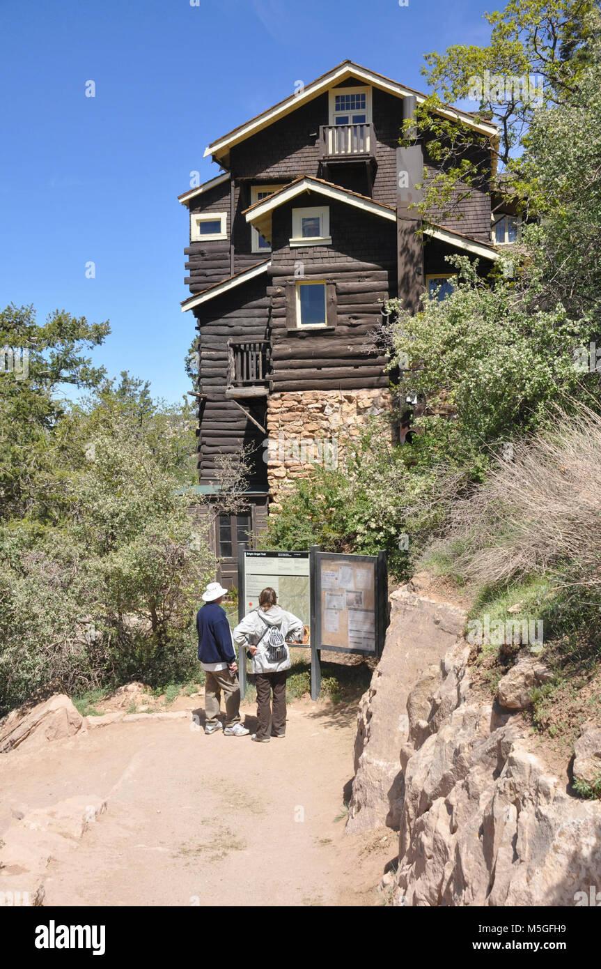 Grand Canyon National Park Kolb Studio ( photo)   Grand Canyon National Park Historic District: South Rim. Kolb - Stock Image