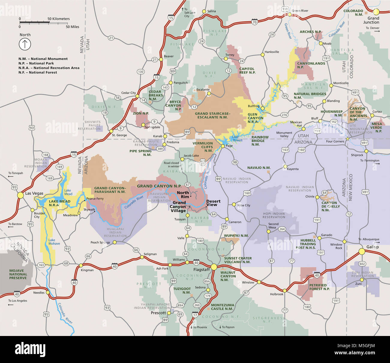 Grand Canyon National Park Regional Map Revision This Map