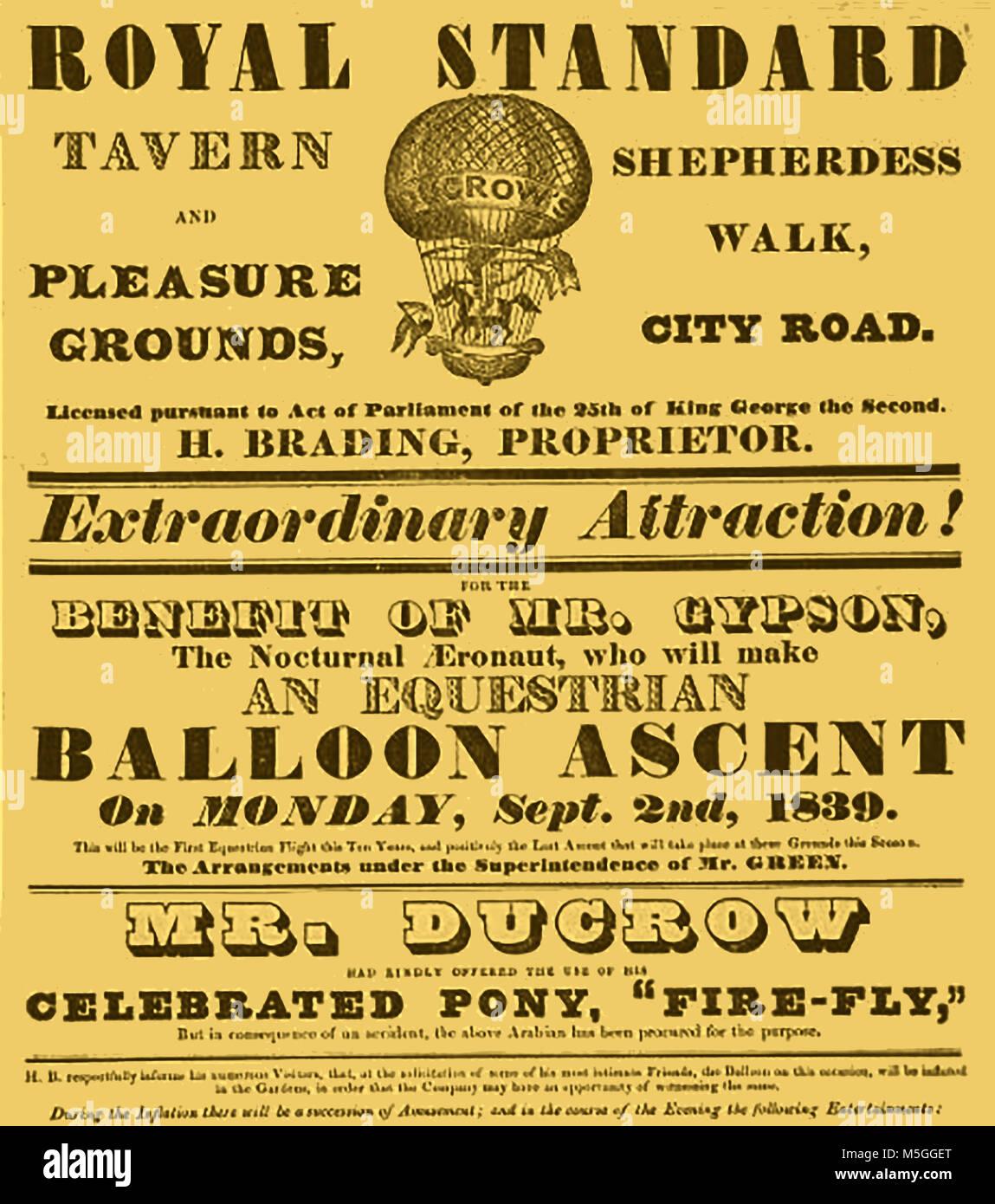 Historic aeronautics, balloons and flying machines - - Stock Image