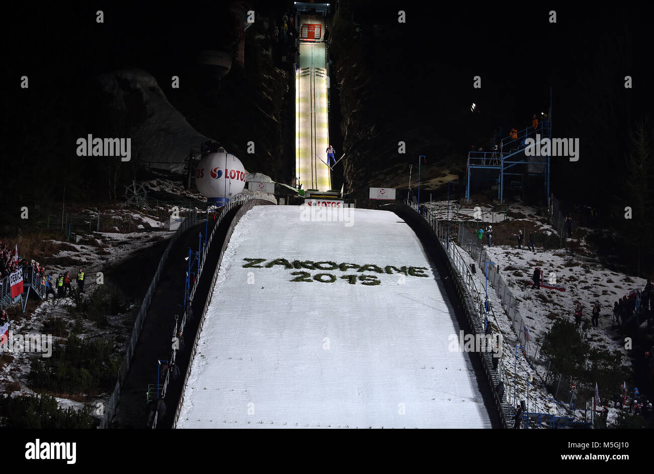 ZAKOPANE, POLAND - JANUARY 18, 2015: FIS Ski Jumping World Cup Zakopane - Stock Image