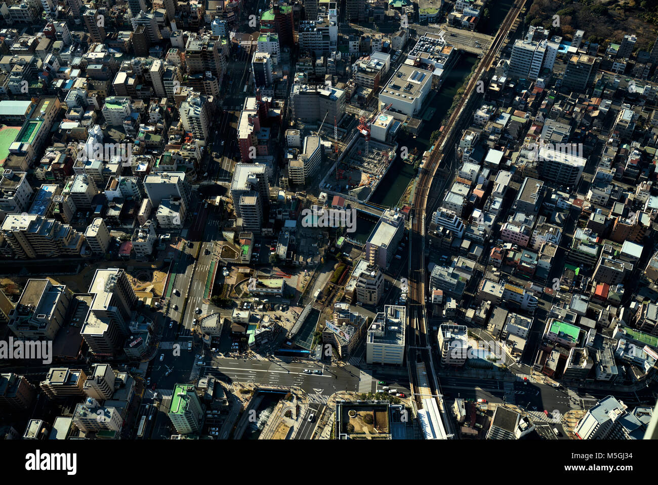 Tokyo megalopolis from above, Skytree, Tokyo, Japan Stock Photo