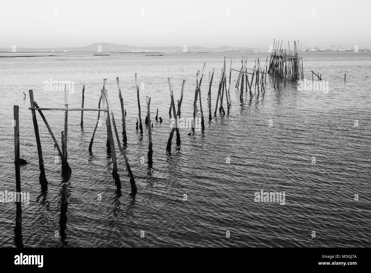 Carrasqueira ancient fishing port - Stock Image